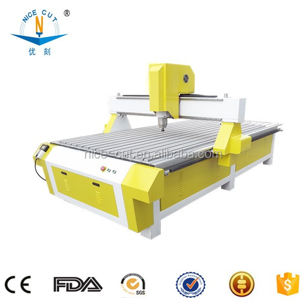NC-R1325 3d wood cutting cnc machine/double-head woodworking machine/3 axis cnc router