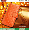 Outlet High-grade Multifunction phone holster for iphone6 protective case new luxury Lattice pattern cell phone case for apple6