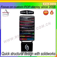Manufactory standing nail polish display rack