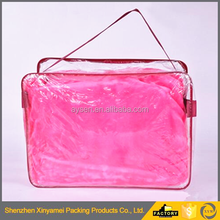 Custom PVC Bag For Dubet Packaging With Handle Plastic Waterproof Quilt Storage Cover Bags