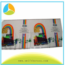 Paper, fabric, vinly material CMYK, PANTONE color printed label sticker with lamination, hot stamp gold