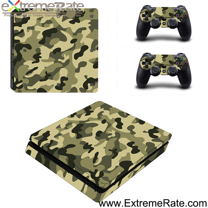 PVC Decal Vinyl Army Series Self-adhesive Skin Cover for Sony Playstation 4 Slim Game Accessories
