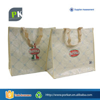 Wholesale PP Laminated Woven Shopper Tote Bag With Logo Printed
