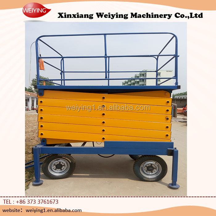 SJY0.5-10 hydraulic work platforms with wheels
