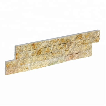 Decorstone24 Rustic Sunny Beige Natural Marble Exterior Wall Cladding Stone Tiles Panel