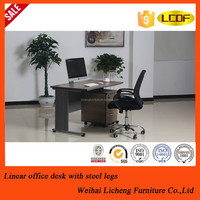 Simple design cheap school office desk with locking drawers teacher table