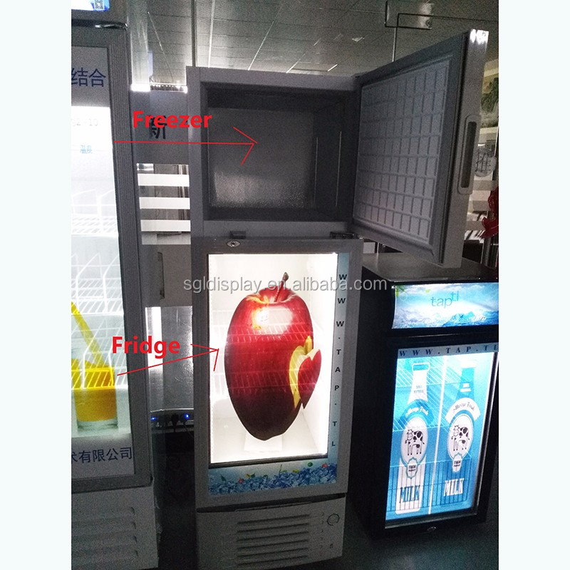 Customized 32 inch transparent lcd refrigerator with display