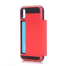 hot selling shield tpu plastic 2 in1 shockproof phone case for iphone 8 7 and 7 plus with card slot
