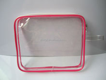 Good quality clear vinyl pvc zipper pouch for packaging pvc bag with zipper