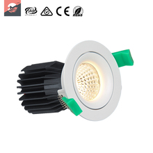 No flickering Adjustable Indoor lighting COB Gimbal downlight 17W