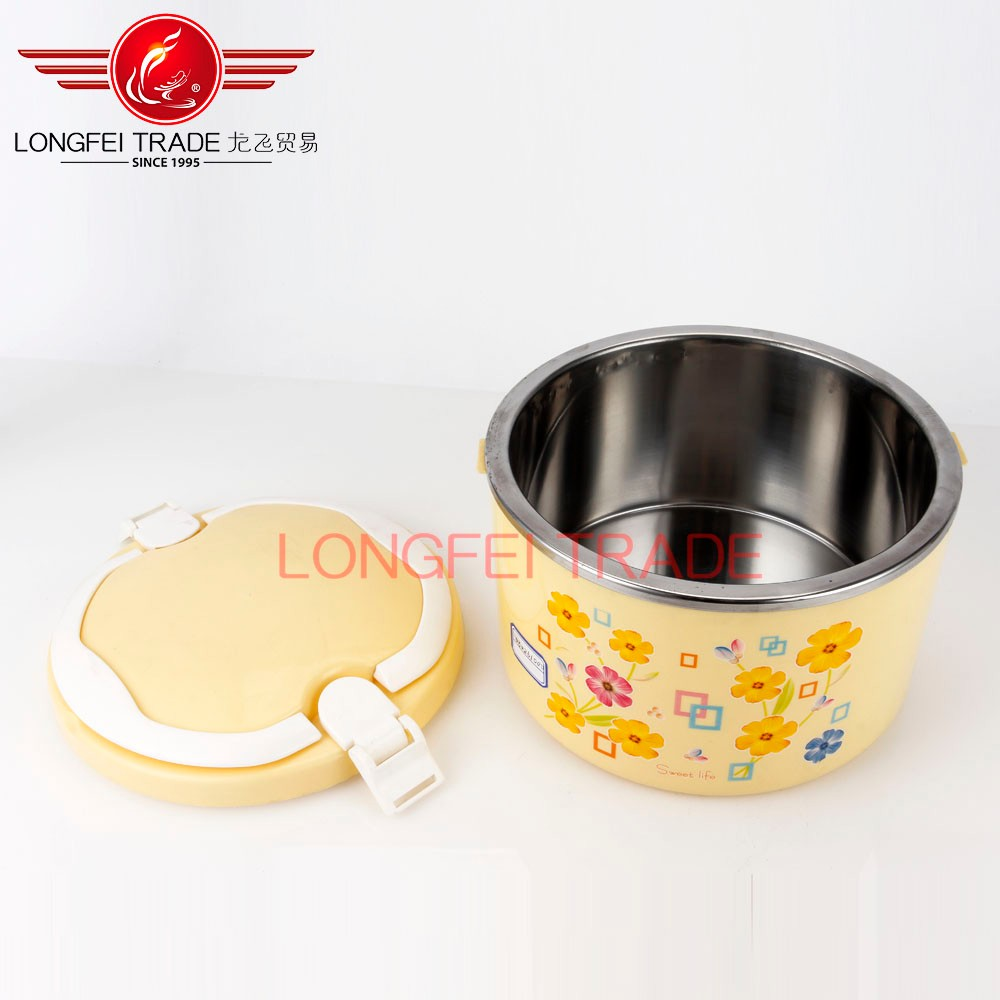 Stainless steel belly insulated food warmer / vacuum food container lunch tiffin box