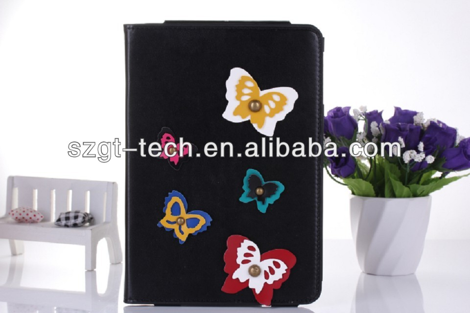 New For iPad Mini2 case, Luxury leather flip pu case for ipad mini 2 stand cover for ipad mini2
