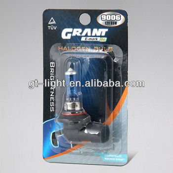 Auto halogen bulb 9006 super withe 12V 55W auto lamp