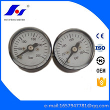 "23.5mm Steel Case 1/8"" NPT Small Tiny 0-250bar Gas Pressure Gauge for Air Pump"
