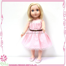 Beautiful and Lovely 18 Inch American Soft PVC Girl Doll with High Quality