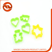 2014 colorful plastic heart shape cookie cutter /biscuit cutter /cake mould