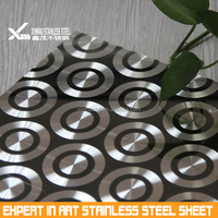 304grade 0.6mm 3D color stainless steel sheet with combination process for decoration Made in China