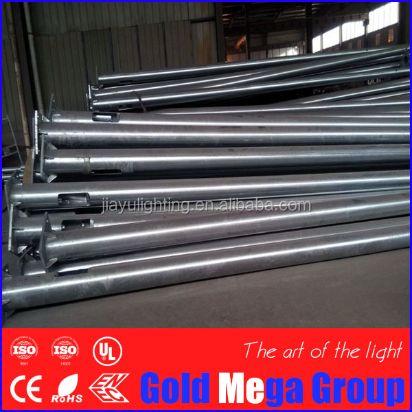 steel lighting pole manufacturer 6m to 12m height Q235 steel LED street hot rolled lamp pole