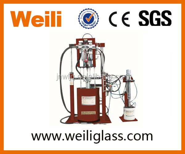 double glazing glass machine manual silicon Extruder silicone coating machine