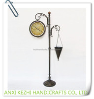 LC-89209 high quality grandfather gift antique metal floor stand clock