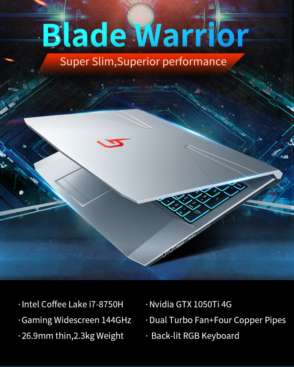 2018 New product 15.6 inch laptop computer core i7 Coffee Lake H i7 8750H DDR4 gaming laptop