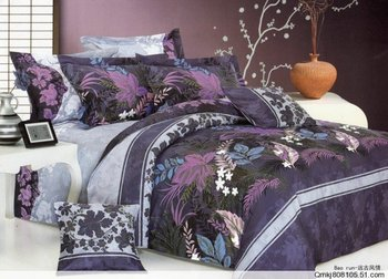 special design bed in a bag sets bedding sets duvet cover flat fitted sheet pillow cases 4pc