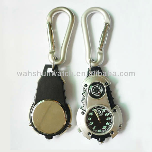 Reliable quality mountaineering carabiner clip watch