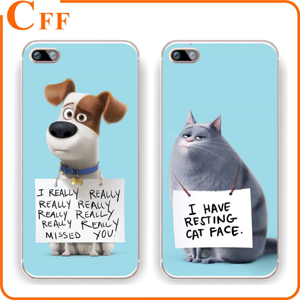 Cute Cat Dog Animal Cell Phone Case Plastic Hard Cover for iPhone 7 Animal Phone Case Cheap Wholesale