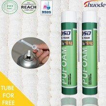 Best Selling window door construction 500ml 750ml PU Expanding Spray Polyurethane Insulation fireproof mastic chemical sealant