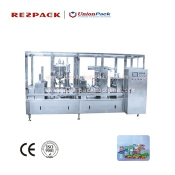 Automatic Yoghurt Filling and Sealing Packaging Machine