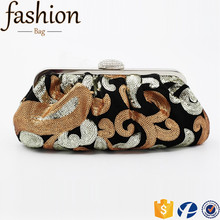 CR Export all over the world sewn sequin shining flowers diamonds inlaid buckle new noble ladies wedding shoes and bag to match