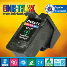 For canon cl-511 remanufactured ink cartridges use in canon Pixma IP2700/IP2702/MP240/MP250/MP252/MP260