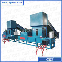 Big capacity woven plastic bags baler machine sawdust compress and bagging machine