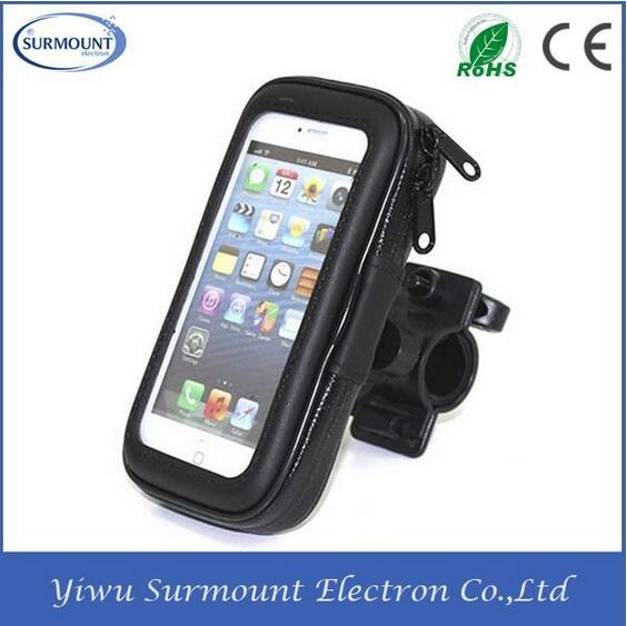 Motorcycle Bicycle Phone Holder Mobile Phone Support Waterproof Bike Bag Case with Mount Holder