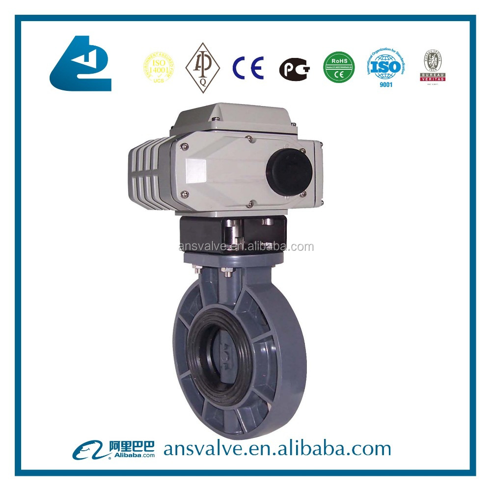 PVC Electric Butterfly Valve