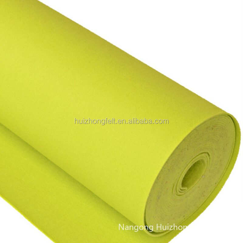 Needle Punched Polyester Nonwoven Felt Fabric