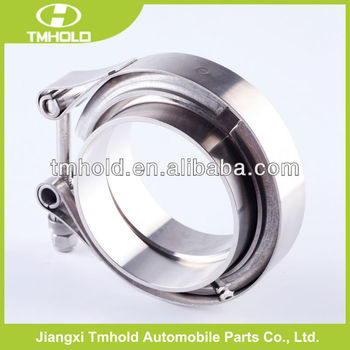 Stainless steel 0.5mm thickness V bolt hose clamp with two flanges