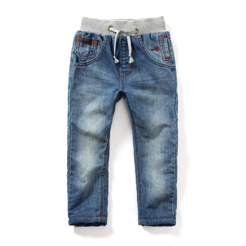 Boys/Girls Warm Adjustable Waist Pants 2015 Spring/Autumn Children's Jeans And Kids Thick Winter pants Trousers