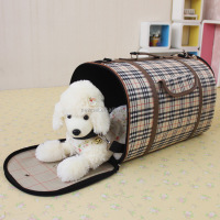 Durable service crazy selling luxury grid pet dog backpack carriers travel pet bag