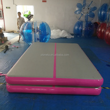 pink 3x2x0.2m inflatable air mat tumble track gymnastics for gym inflatable air track for sale