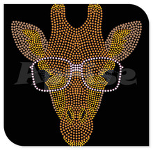 Lovely giraffe hot fix motif rhinestone templates
