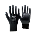 Nmsafety 13 gauge nylon knitted black smooth nitrile coated oil-resistant working gloves