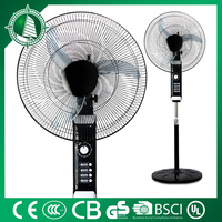 Electrical Rechargeable battery charger fan with remote controll Stand fan
