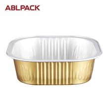 Environmentally-friendly Aluminum Foil Smooth Wall Food Container