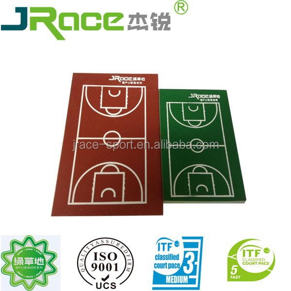 acrylic paint tennis flooring