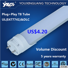 SMD2835 Retrofit Tube8 Chinese Sex LED t8 0.6/1.2/1.5m Compatible LED Tube with UL DLC Listed