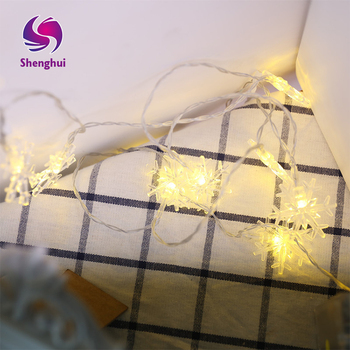 3M 20 LED Snowflake String Fairy Lights New Year Xmas Party Wedding Garden Light Lamp Garland Decoration Christmas Lights