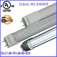 UL cUL T8 LED Linear tubes 2ft 4ft 6ft working voltage ranges from 110V to 277V LM79 and LM80 test reports