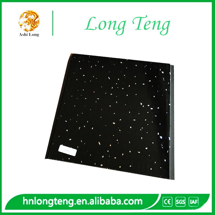 25cm black sparkle design plain pvc ceiling/pvc panels for Britain market
