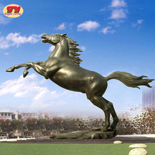 Large garden cooper animal bronze running horse sculpture for outdoor decoration